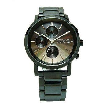 NATURALLY JOJO 鏡面下的美麗陶瓷時尚優質腕錶-黑-JO96873-85F