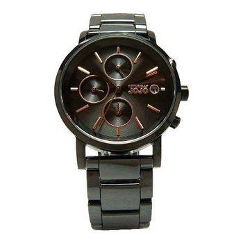 NATURALLY JOJO 鏡面下的美麗陶瓷時尚優質腕錶-黑+玫瑰金-JO96873-88F