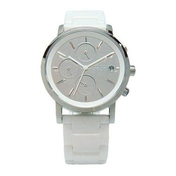 NATURALLY JOJO 鏡面下的美麗陶瓷時尚優質腕錶-白-JO96873-00F
