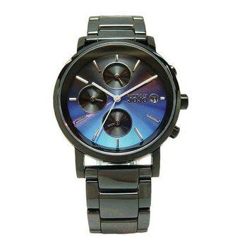 NATURALLY JOJO 鏡面下的美麗陶瓷時尚優質腕錶-藍面-JO96873-55F
