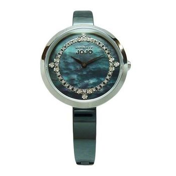 NATURALLY JOJO 鎂光燈焦點晶鑽時尚陶瓷優質腕錶-黑-JO96874-88F