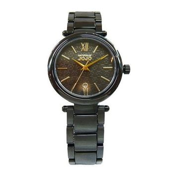NATURALL JOJO 愛的印記時尚陶瓷優質女性腕錶-黑-JO96879-88F