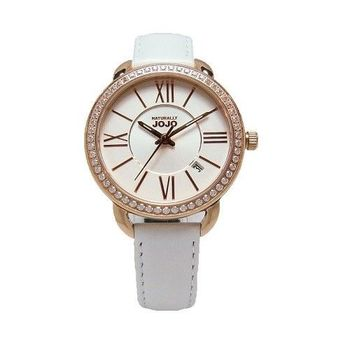 NATURALLY JOJO 愛要大聲說出來時尚優質情人腕錶-白-JO96887-80R