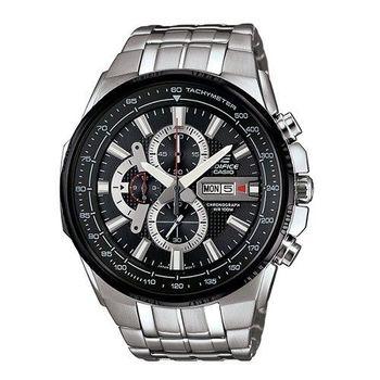 CASIO EDIFICE 勇者無敵三眼雷達運動時尚腕錶-黑+灰-EFR-549D-1A8