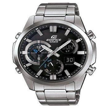 CASIO EDIFICE 勇者戰神雙壁傳說運動時尚限量腕錶-銀-ERA-500D-1A