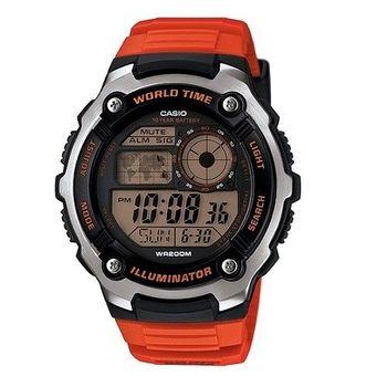 CASIO 冰天雪地潛水專家昇華版運動腕錶-橘-AE-2100W-4A