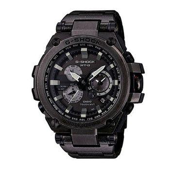 G-SHOCK 太陽能無限伸展電波指針式霸氣複合式腕錶-復古黑-MTG-S1000V-1A