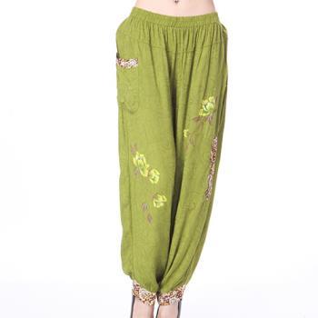 蘭陵唯一款加大手繪寬鬆褲3入 104-03-24