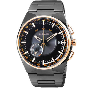 CITIZEN星辰 GPS 鈦金屬光動能藍寶石多國時區計時錶 / CC2004-59E (限量廣告款)