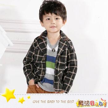 魔法Baby~韓版合身短西裝外套 童裝~k25958