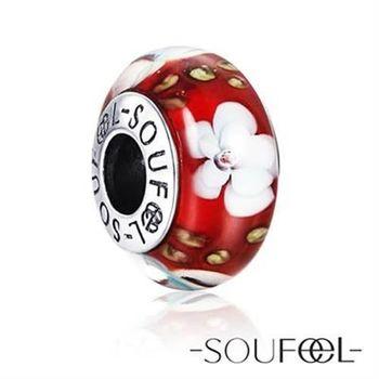 SOUFEEL索菲爾 英倫925純銀《閉月羞花》琉璃串珠