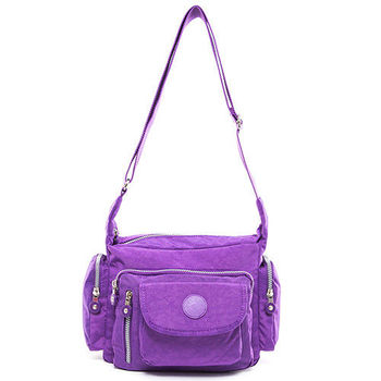 COUNT DUCK 美系悠活輕量多口袋側背包-CD-010紫色