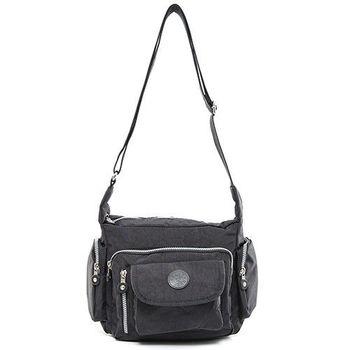 COUNT DUCK 美系悠活輕量多口袋側背包-CD-010黑色