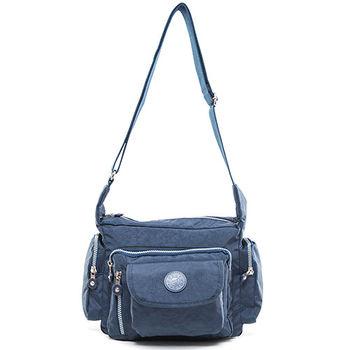 COUNT DUCK 美系悠活輕量多口袋側背包-CD-010藍色