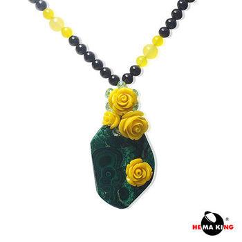 【HEMAKING】天然孔雀石玫瑰項鍊