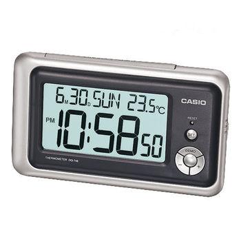 CASIO卡西歐‧具有溫度計與日期功能的大字幕鬧鐘DQ-748-8