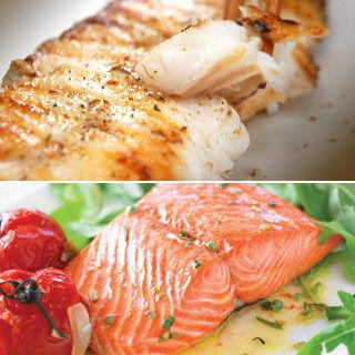 加碼送大片冰島鱈魚2片【築地一番鮮】挪威嚴選中段厚切鮭魚6片組(370-390g/片)