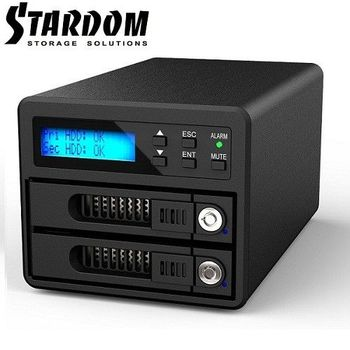 RAIDON 2.5吋/3.5吋USB3.0/eSATA 2bay磁碟陣列-GR3680-SB3