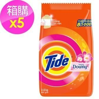 【Tide】洗衣粉-含Downy/5入箱購(2.5kg*5)