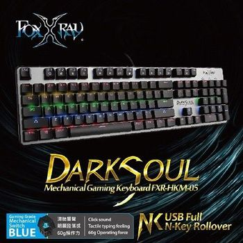 FOXXRAY 闇魂戰狐機械電競鍵盤豪華版【青軸】FXR-HKM-05