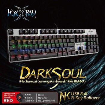FOXXRAY 闇魂戰狐機械電競鍵盤豪華版【紅軸】FXR-HKM-05