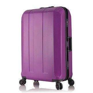 日本 LEGEND WALKER 台灣限定版 6000+ 65-27吋 鋁框輕量行李箱 紫色