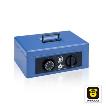【KINCOO】警報式密碼鎖現金保險箱(SR-58A)-藍