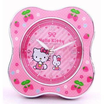 Hello Kitty 超靜音 貪睡鬧鐘(草莓園)