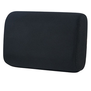 【源之氣】竹炭記憶加厚加軟兩用腰靠/黑色 RM-9454