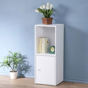 Homelike 現代風二格單門置物櫃(三色)
