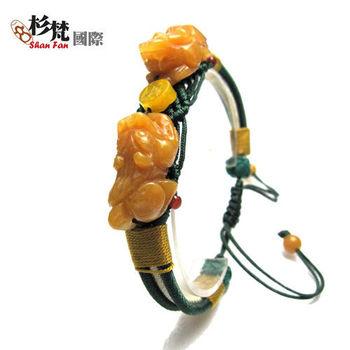 【杉梵】黃玉雙貔貅搶錢手鍊