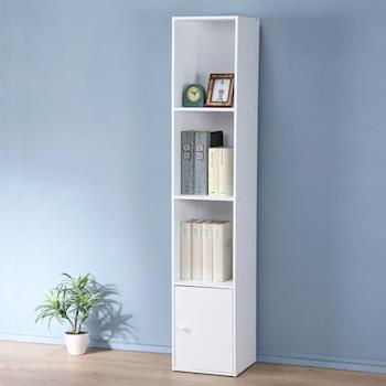 Homelike 現代風四格單門置物櫃(三色)