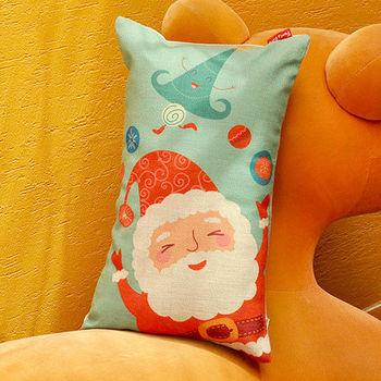 義大利Fancy Belle《聖誕派對》麻織午安抱枕 28*45CM