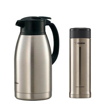 【象印】不鏽鋼真空保溫保冷杯壺組 SH-HA19+SM-AFE50