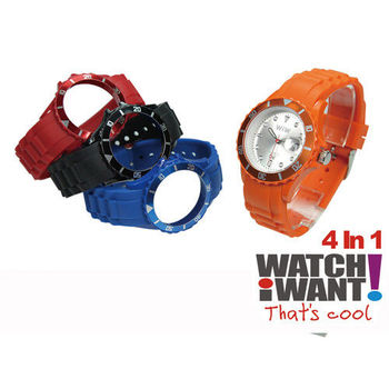 【WATCH I WANT】4IN1幻彩可拆式運動潮錶 時尚活力款