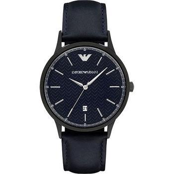 Emporio Armani Classic 都會新貴時尚腕錶-深藍/43mm AR2479