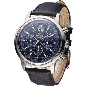東方錶 ORIENT 當代經典尊爵計時腕錶 FTV02003D 藍