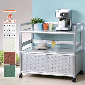 Homelike 鋁合金3尺二門收納櫃(四色任選)