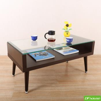 DFhouse 日式簡約玻璃茶几桌-2色