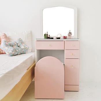 舒適屋 法式公主風夢幻化妝桌椅組(2色可選)