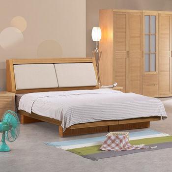 Homelike 春沐和風床台組(含床頭箱)-雙人加大6尺