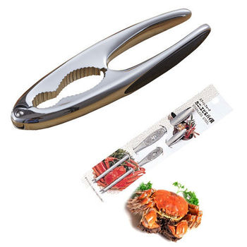 PUSH!餐具不銹鋼吃螃蟹工具蟹夾蟹具核桃夾3件套D47