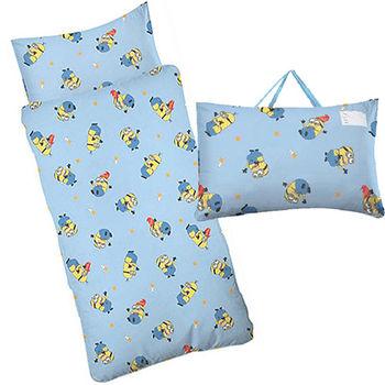 【Sunnybaby生活館】- 卡通造型幼教兒童睡袋-小小兵(藍)