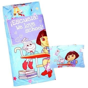 【Sunnybaby生活館】- 卡通造型幼教兒童睡袋-朵拉(藍)