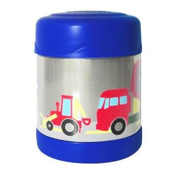 【THERMOS膳魔師】0.3L工程車不鏽鋼真空食物罐F3001CS6