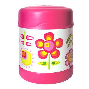 【THERMOS膳魔師】0.3L小花兒不鏽鋼真空食物罐 F3001FFP6