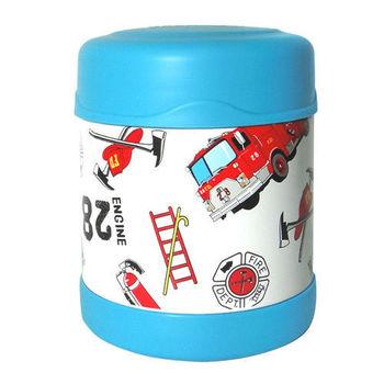 【THERMOS膳魔師】0.3L消防車不鏽鋼真空食物罐 F3001HRB6