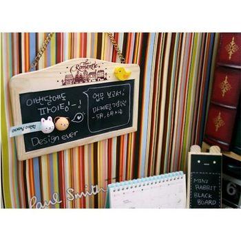 原木可掛式黑板 雙面帶磁性 送立體磁鐵 板擦 粉筆~ 可愛小黑板 留言版 門牌~