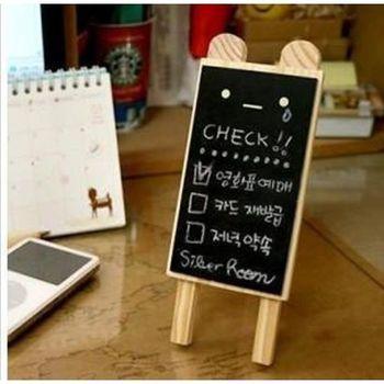 小留言板 【 韓國迷你表情黑板 】 造型黑板 創意留言板 備忘錄 附贈粉筆 板擦(2入一組)