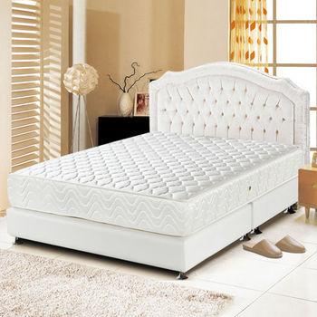 睡尚寶 乳膠3M防潑水蜂巢式獨立筒床墊-雙人加大